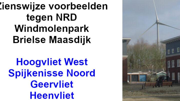 Zienswijze voorbeelden Hoogvliet, Spijkenisse, Geervliet en Heenvliet