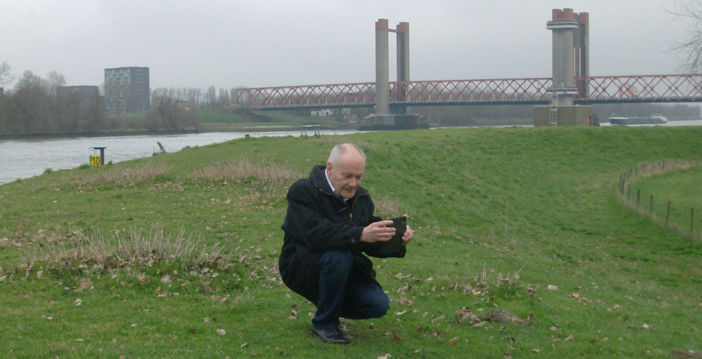 PVV Fractievoorzitter Zuid-Holland Henk de Vree bezocht beoogde windpark locatie